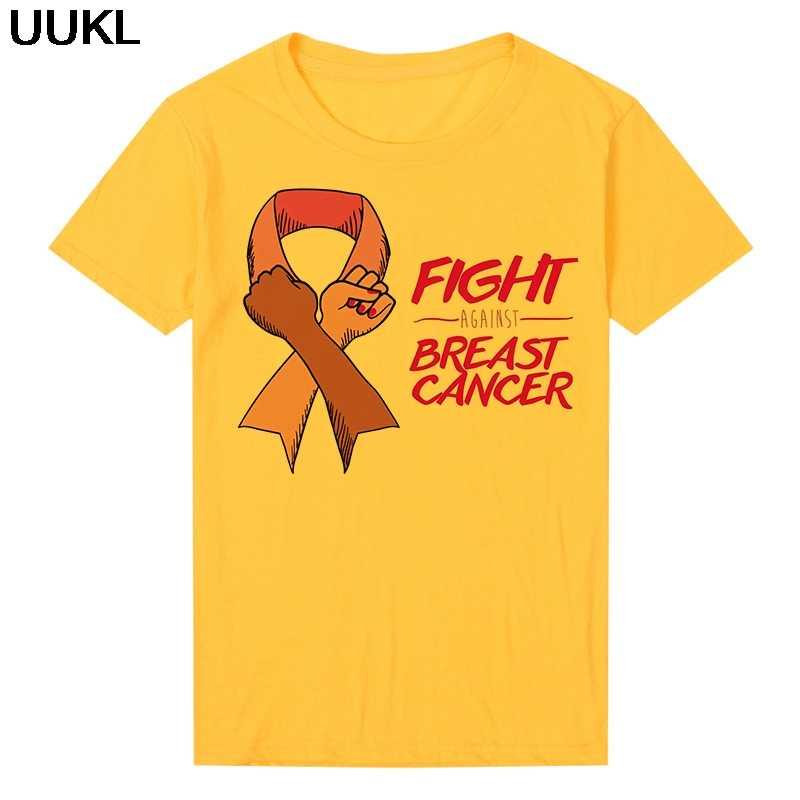Moda 2020 Mujer Musim Panas Wanita T-shirt Harajuku Melawan Kanker Payudara Surat Dicetak Tshirt Leisure Fashion Estetika Kemeja