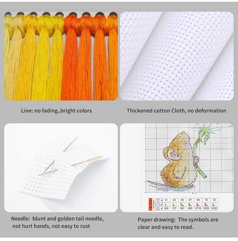 Набор для рукоделия Joy Sunday, цветной воздушный шар, вышивка крестиком, холст, 14CT 11CT DMC, домашнее украшение, сделай сам, ручная работа