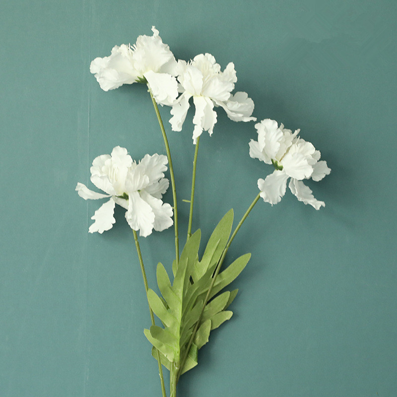 NEW 4heads/branch Azalea Flower Branch Lovely Silk White Artificial Flowers With Leaves Wedding Party Decor Flores