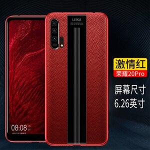 Image 3 - 高級ハンドメイド電話アクセサリーシェル Huawei 社の名誉 20 ケース本革カバー Huawei 社の名誉 20 プロソフト TPU バンパー