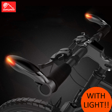 1 pair LED Bicycle Handlebar End With Light MTB Road Bike Handle bar End Lock on Mountain Bike Handlebar Extender Bicycle Parts special offer top carbon handlebar road cycling mountain mtb bike bicycle lock on handlebar cover handle bar end