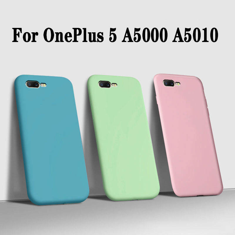 FundaS For OnePlus 5 Case tpu luxury Matte Liquid soft Silicone Phone Cases For OnePlus 5 1+5 a5000 a5010 back Cover armor Coque image