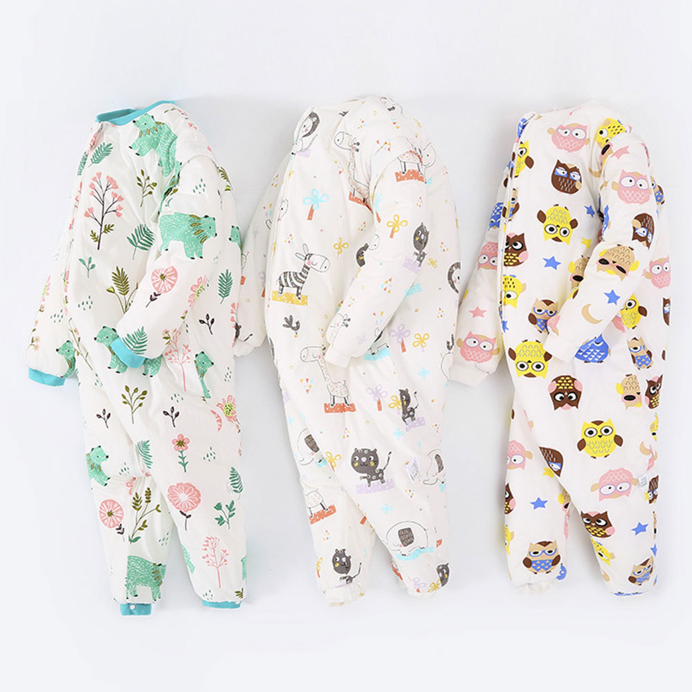 Baby Split Leg Sleep Bag Thick Winter Warm Anti Tipi 0-24M Children'S Sleeping Bag Cute Animal Printed Free Gifts Shoe Cover