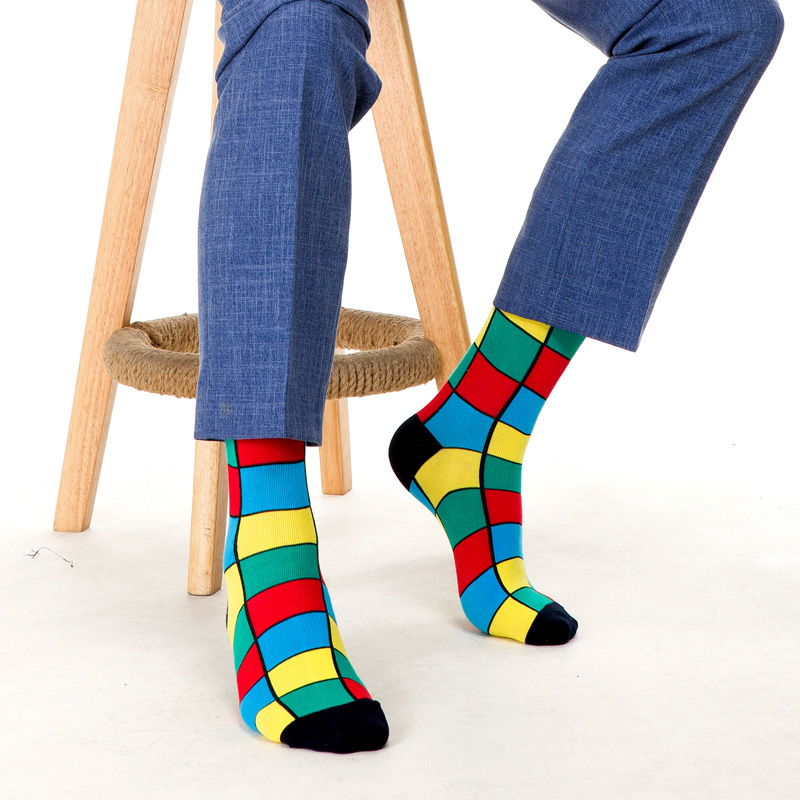 Image 4 - SANZETTI New Hot Colorful Men Socks Casual Combed Cotton High Quality Skateboard Funny Happy Wedding 12 Pairs/Lot Dress SocksMens Socks   -