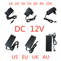AC 100 в-240 в DC 12 В 1A 2A 3A 5A 6A 8A 10A адаптер питания 12 В вольт трансформатор освещения конвертер для светодиодной ленты света