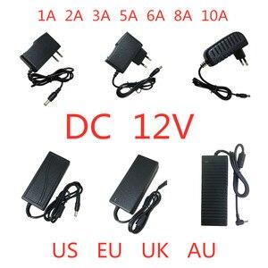 Image 1 - AC 100V 240V DC 12 V 1A 2A 3A 5A 6A 8A 10A אספקת חשמל מתאם 12 V וולט תאורת שנאי ממיר עבור LED רצועת אור טלוויזיה במעגל סגור