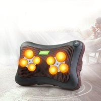 Car Massage Pillow Cervical Massager Multi function Heating Massager Neck Back Massage Pillow Muscle Pain Relief CN plug