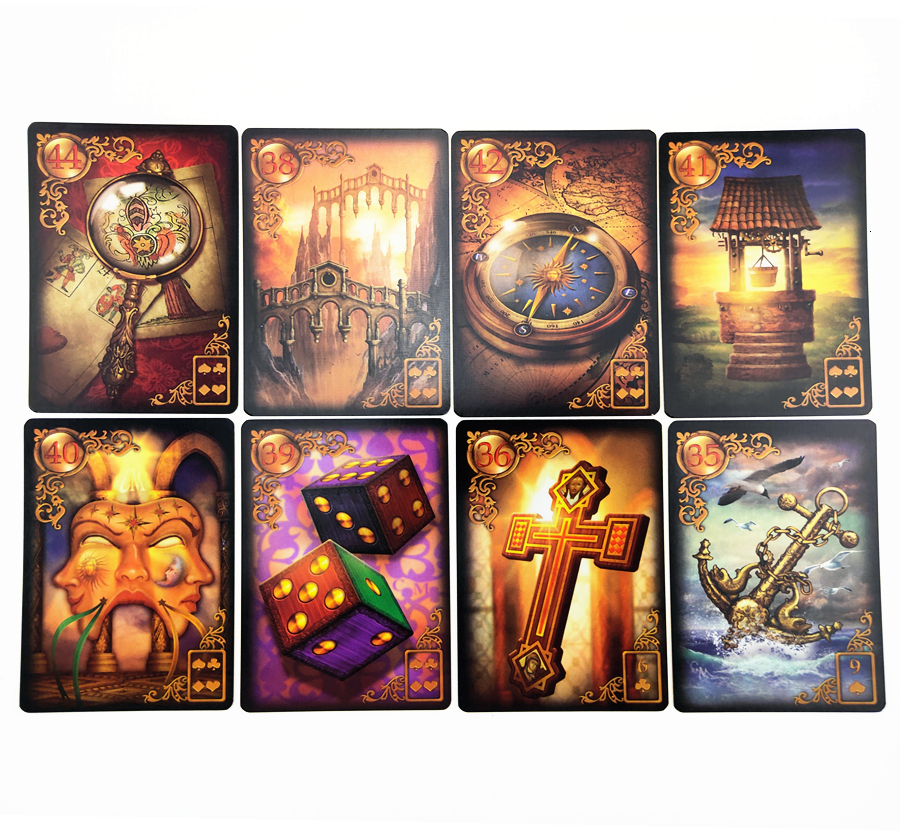 47 Cards English Read Fate Lenormand Oracle Cards Mysterious Fortune Tarot Card Board Game For Divination