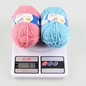 Image 3 - TPRPYN Hilo de ganchillo para tejer leche, 1 pieza = 50g 95M, hilo de punto de algodón suave y cálido, hilo de línea de punto hecho a mano, Alfombra de costura