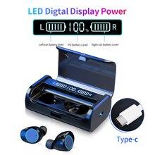 G06 AAC LED 전원 디스플레이 무선 블루투스 5.0 이어폰 TWS 3D 스테레오 소음 4000mAh 충전 박스와 터치 이어 버드 취소
