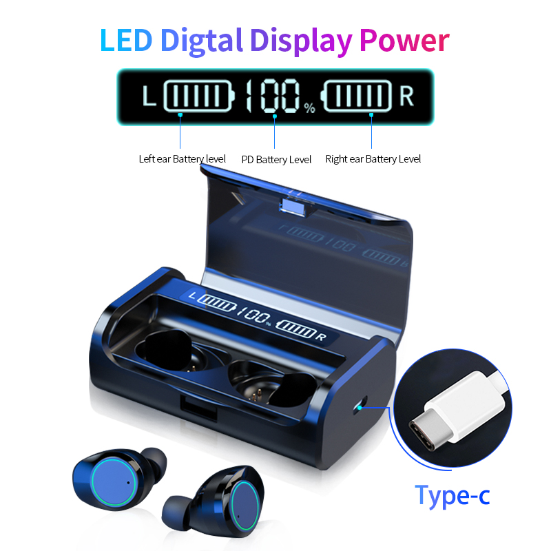 G06 AAC LED Power Display Wireless Bluetooth 5.0 Earphone TWS 3D Stereo Noise Cancelling Touch Earbuds With 4000mAh Charging Box(China)