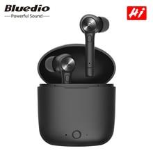 Bluedio oi tws sem fio fones de ouvido bluetooth fone de ouvido estéreo esporte fones de ouvido sem fio fone de ouvido com caixa de carregamento embutido microfone