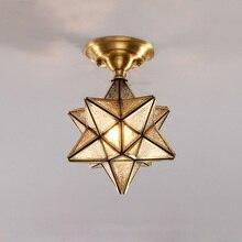 Post-modern Creative Copper Ceiling Lamp Luxury Light Hall Lighting For Bedroom Home Indoor Lights Fixture Foyer Lamps 2019 цена