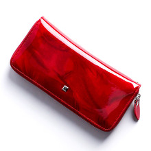 HH womens wallet Genuine Leather Female Purses  Ladies Long Purse Handle Clutch Wallets for Phone Design Long Wristlet Clutch