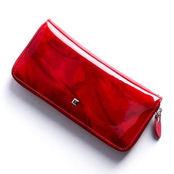 HH women's wallet Genuine Leather Female Purses  Ladies Long Purse Handle Clutch Wallets for Phone Design Long Wristlet Clutch