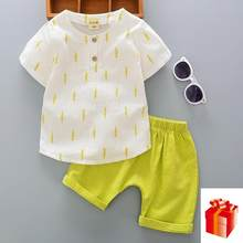 Hot Sale Brand Boys Clothing Children Summer Boys Clothes Stripe Kids Boy Clothing Set T-shit+Pants Cotton Sets 0 1 2 3 4 5 Year(China)