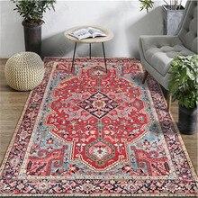 Alfombra persa Europea Vintage alfombras rojas turcas sala de estar del país americano alfombras de cabecera de dormitorio alfombras de hogar de Marruecos