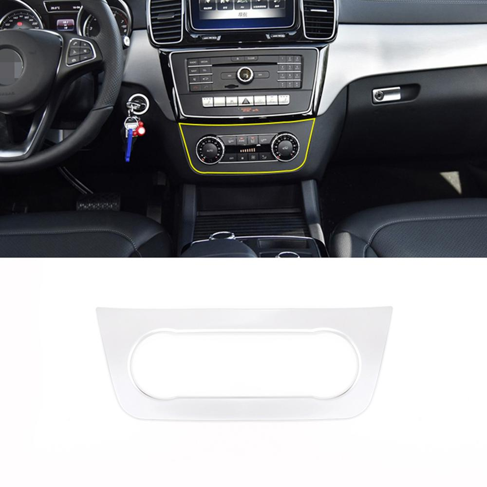 Chrome ABS Central Control Air Outlet Vent Decorative Frame Trim for <font><b>Mercedes</b></font> <font><b>Benz</b></font> ML GLE <font><b>GL</b></font> GLS Class W166 <font><b>X166</b></font> Car <font><b>Accessories</b></font> image
