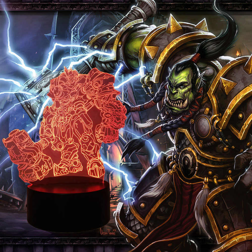Wow The Horde Led Night Light Orc Table Lamp Shaman Thrall Indoor
