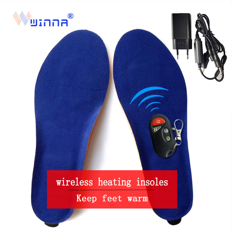 Winter Velvet Warm Heated Insoles power Remote insoles Thermal Thickened Warm Keeping Shoes Pad For Men