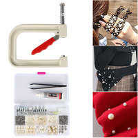 Rivet Mould Durable Attach Machine Manual For Garments Hand Press Pearl Fixing Decoration Sewing Beading Supplies Kit Crafts DIY