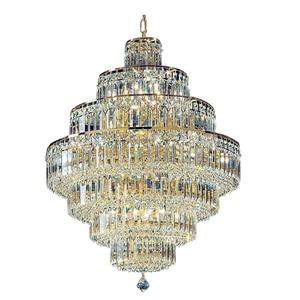 Image 1 - Lámpara de araña de cristal francés con diseño de Imperio Dorado, candelabros cromados, modernos, envío gratis