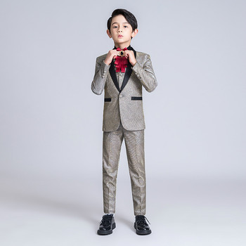 YuanLu Kids Suit For Boy Children Jacket Blazer Coat Formal Suit For Wedding Party Baby Boy shinning Toddler Clothes