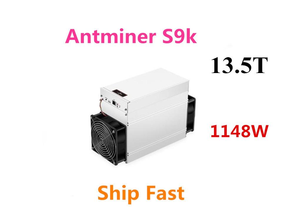 BITMAIN nouveau AntMiner S9k 13.5T Bitcoin BTC BCH Miner mieux que Antminer S9 13.5t 14t S9j 14.5t S9 SE S11 S15 S17 T17 S17E S17 +