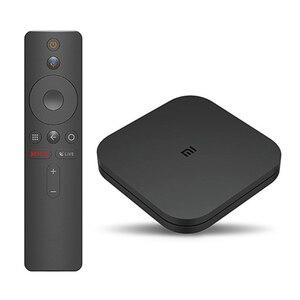Image 3 - صندوق تلفاز شاومي مي عالمي أصلي S 4K HDR تلفزيون أندرويد 8.1 فائق الدقة 2G 8G واي فاي جوجل يلقي Netflix قمة مجموعة Mi Box 4 ميديا بلاير