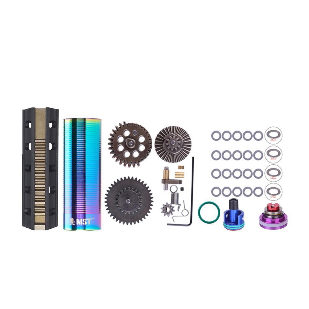 MODIKER Basic Kit Motor Piston Head Harden Gear Air Cylinder For LH AUG Water Gel Beads Blaster Gearbox Modification