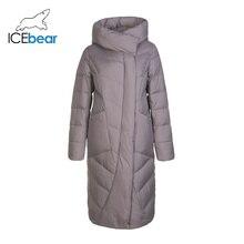 ICEbear 2019 nueva ropa larga de invierno de algodón para mujer, chaqueta de moda cálida para mujer, ropa de marca con capucha para mujer GWD19127I