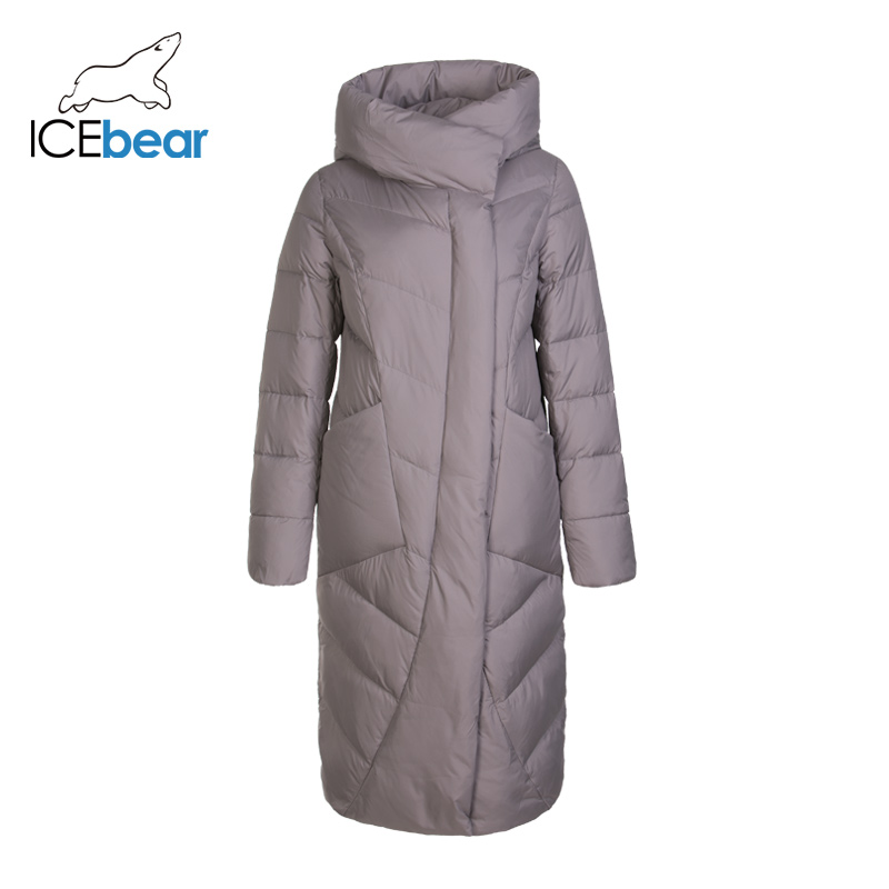 ICEbear Новинка 2019  зимняя Длинная женская хлопковая одежда модная теплая Женская куртка с капюшоном  Брендовая женская одежда GWD19127I|Парки|   | АлиЭкспресс