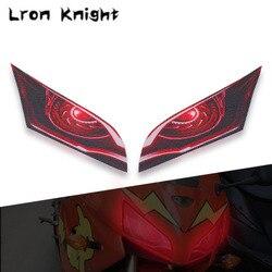For HONDA CBR600RR CBR 600 RR CBR 600RR 2007-2012 2011 Motorcycle 3D Front Fairing Headlight Sticker Guard Head light Stickers