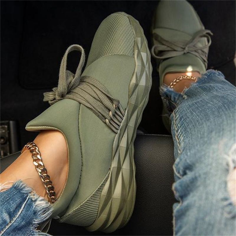 WEALTHY Women Sneaker Lace Up Flat Walking Running Vulcanized Shoes Round Toe Casual Breathable Non Slip Sport Shoes for Female|Women's Vulcanize Shoes| - AliExpress