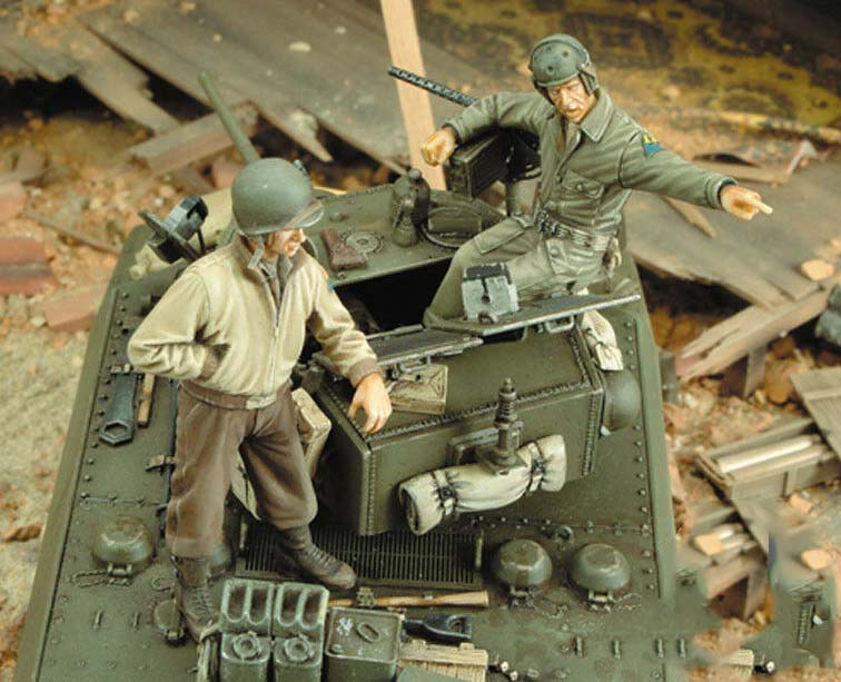 1/35 Ancient Crew (2 Figures) (NO TANK )  Resin Figure Model Miniature Gk Unassembly Unpainted