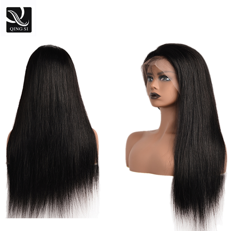 13x4 Lace Front Human Hair Wigs For WomenBrazilian Straight Lace Frontal Remy  Wig With Baby Hair Pre Plucked Natural Hairline