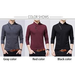 Image 3 - BROWONยี่ห้อเสื้อยืด2020ชายTshirtฤดูใบไม้ร่วงแฟชั่นเสื้อแขนยาวผู้ชายSlim Fit PlusขนาดM 5XLผ้าฝ้ายTเสื้อ