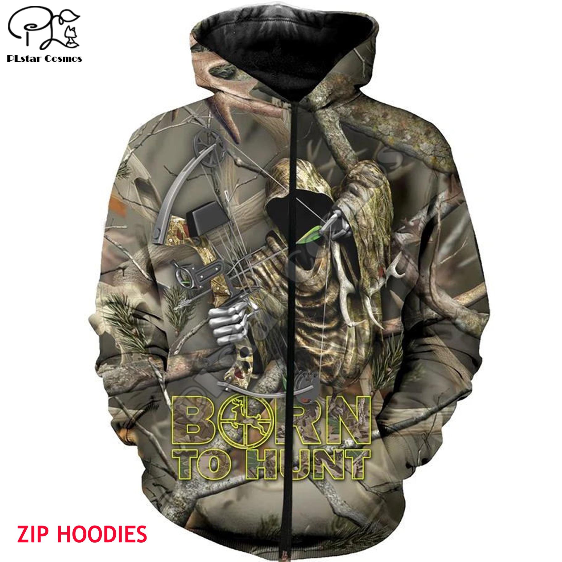Bow Hunting 3d all over Printed Unisex hoodies Harajuku Fashion Casual Hooded Sweatshirt zip hoodies drop shipping