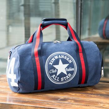 Podróż ręczna obejmuje buty ramiona torby sportowe męskie torby fitness torby bagażowe o dużej pojemności torby podróżne na krótkie odległości tanie i dobre opinie LISM Płótno Wszechstronny 25cm 43cm zipper Podróż torba SOFT Na co dzień Stałe Youth Male Canvas ruan ba The Letter