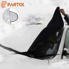 Partol серебряное покрытие УФ отражатель универсальная защита лобового стекла автомобиля зонтики автомобильной тепла потребление перед окном снег щит