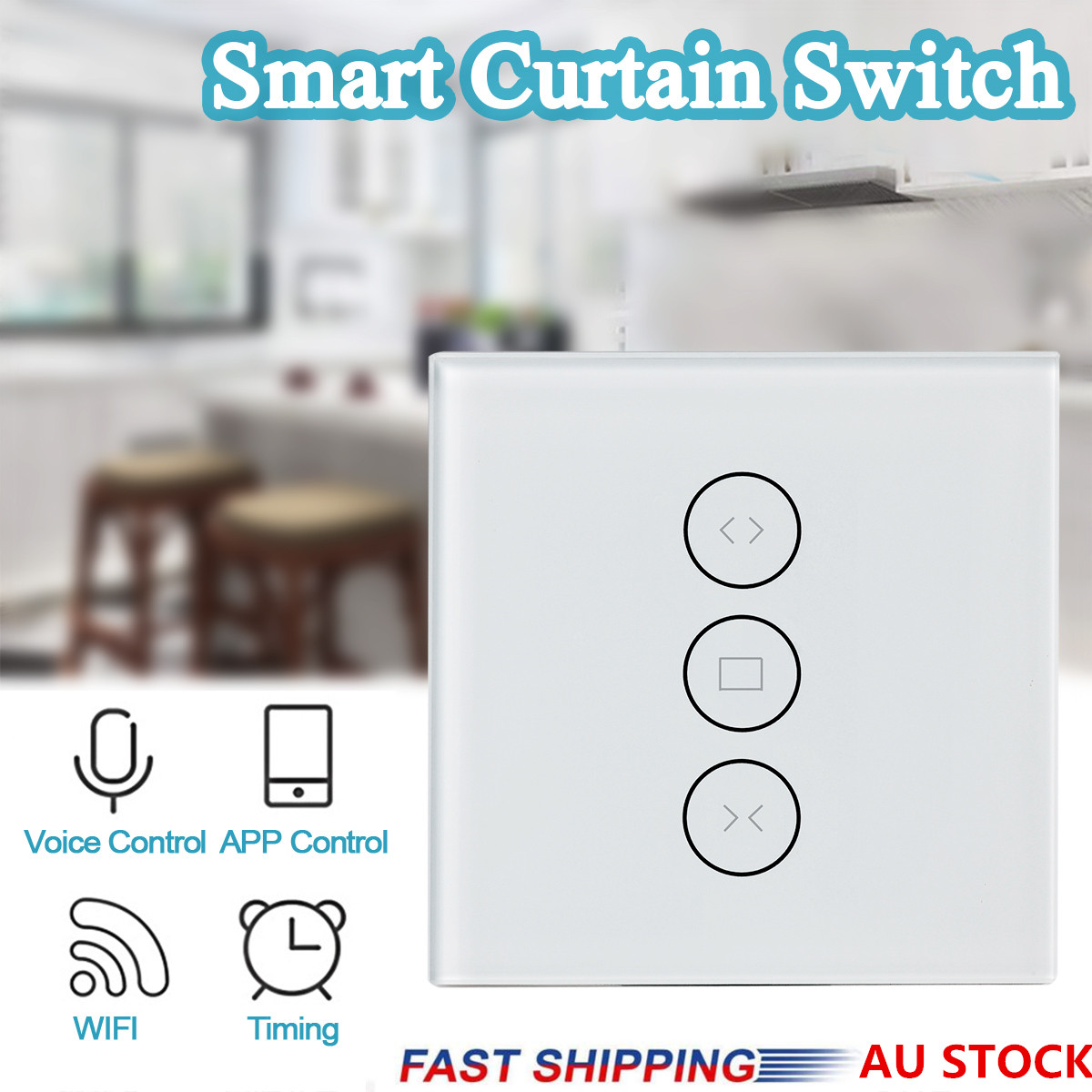 App Eu Wifi Smart Press Curtain Switch Voice Control By Alexa And Google Phone Control For Electric Motor Touch Control Work