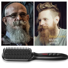 Top Brand New Fashion Wholesale Men Electric Beard Straightener Professional Quick Styling Hair Comb Brush 2019 Hot Sale  M3
