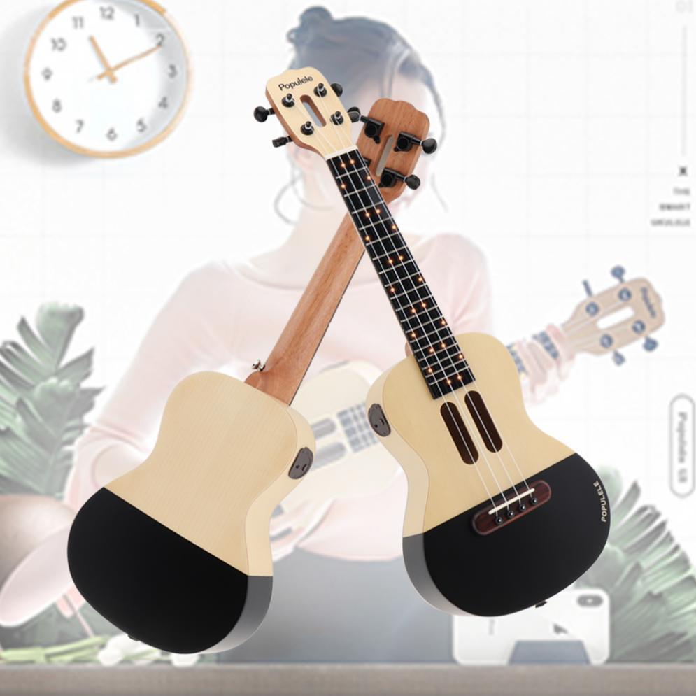 Populele U1 23 pouces intelligent Concert ukulélé épicéa bois acoustique 4 cordes guitare avec APP enseignement