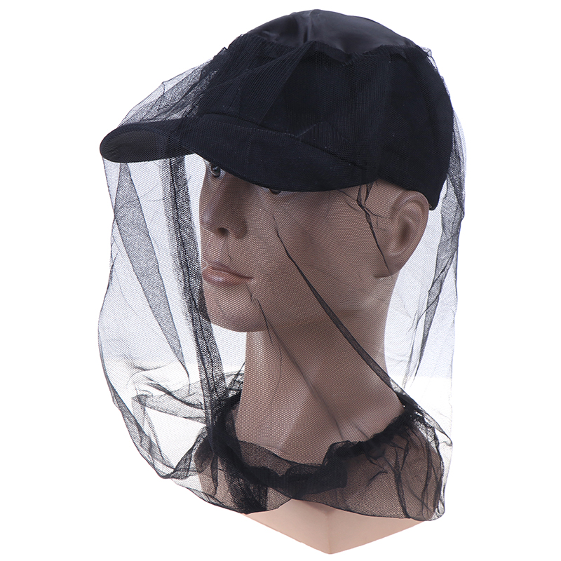 45*45cm Fabric Midge Mosquito Insect Hat Bug Mesh Head Net Face ProtectorDrop Shipping