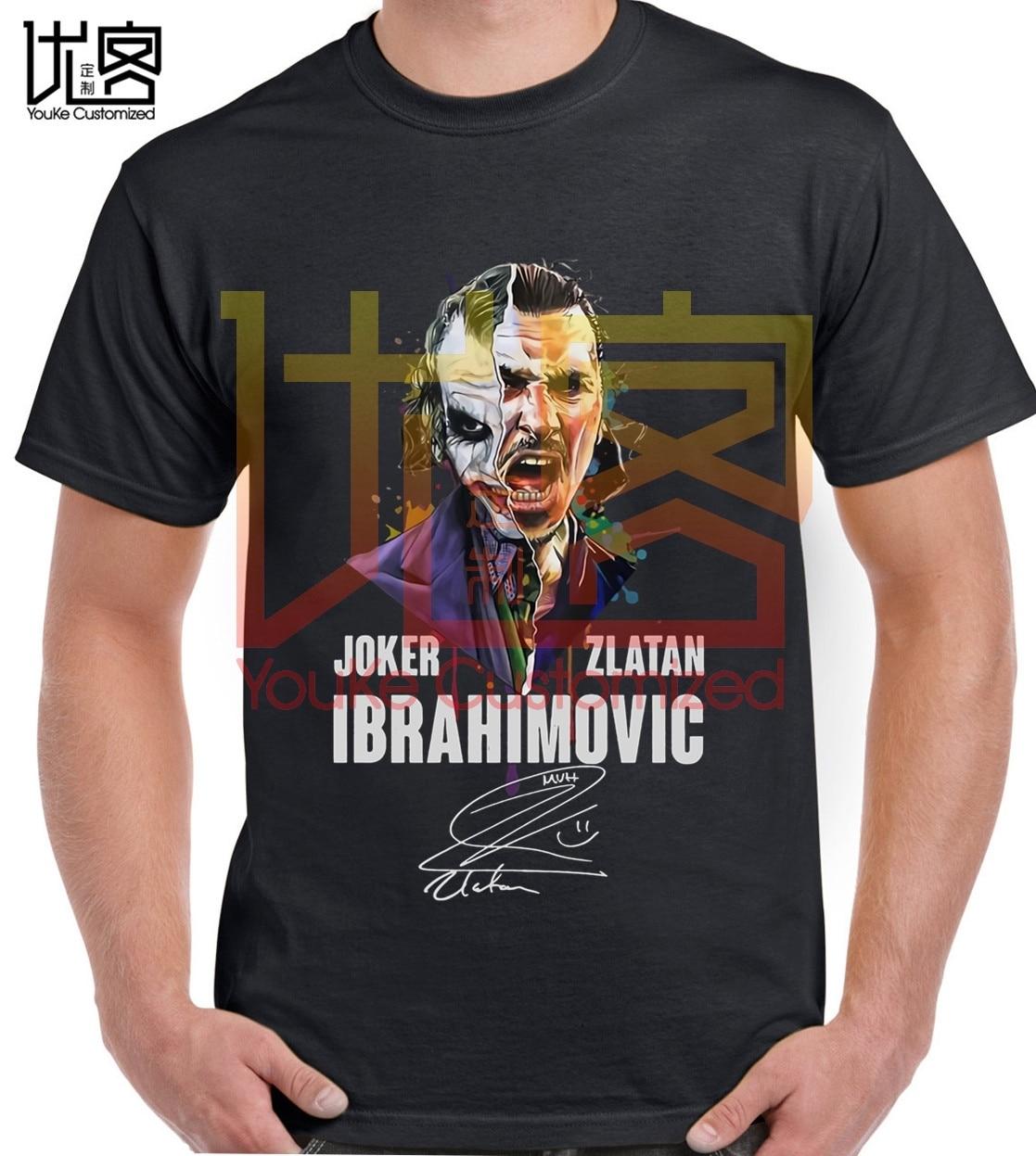 Joker-Zlatan-Ibrahimovic-signature-shirt Men's Women's 100% Cotton Short Sleeves Tops Tee Printed Crewneck Casual T-shirt