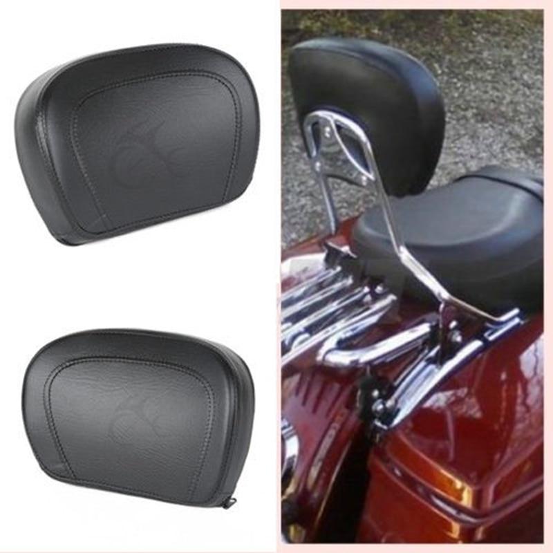 Motorcycle Sissy Bar Backrest Pad For Harley Touring Road King Street Electra Glide Street Road Glide FL FLHT FLHX 1997-2020