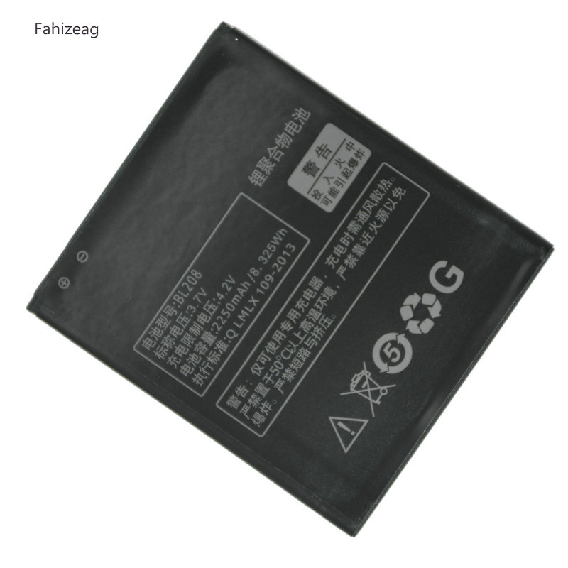 Fahizeag 2250mAh BL208 Replacement For <font><b>Lenovo</b></font> S920 <font><b>A616</b></font> A690E A5800-D Battery image