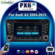 Leitor de dvd do carro do ruído de carplay px6 android 10 2 para audi a3 8p 2003-2012 s3 2006-2012 rs3 sportback 2011 gps rádio reprodutor multimídia