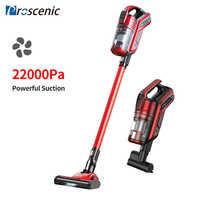 Proscenic i9 22000 pa recarregável handheld aspirador de pó para casa ciclone filtro portátil vertical sem fio aspirador