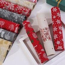 Счастливого Рождества красная лента-веревка Снеговик длинный стол бегун ткань вечерние ужин нескользящий стол бегун хлопково-льняной домашний декор 270 см